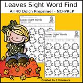Leaves Sight Word Find: Preprimer