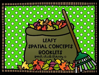 Leaves Spatial Concept Booklets for Speech Therapy