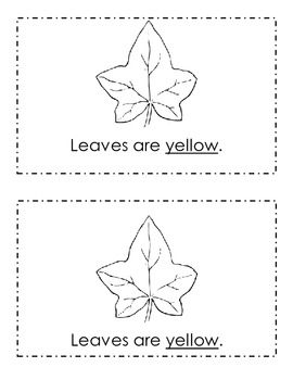 Leaves Story Book