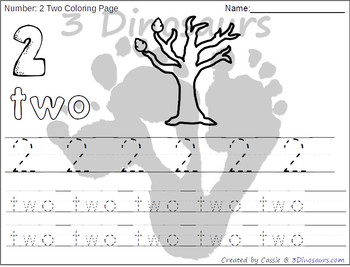 Leaves Themed Number Color and Trace
