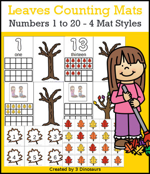Leaves Themed Number Counting Mats