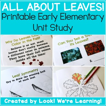 Leaves Unit Study - All About Leaves!