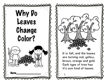 Leaves, Why Leaves Change Color in the Fall Reader, Comprehension and MORE!!