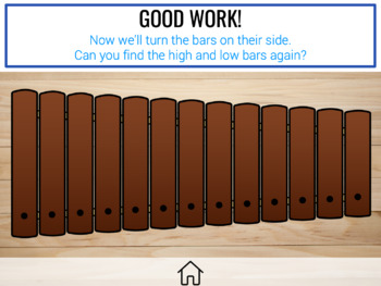 Leaves: a song and xylophone activity to teach high and low