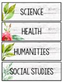 Editable Schedule - Leaves and Florals Decor - Farmhouse Decor