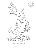 Leaves are Dancing   FREE Coloring Sheet