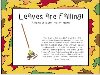 Leaves are Falling! A number identification game