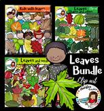 Leaves bundle Clip Art. 160 images.