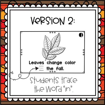 Leaves~ emergent reader