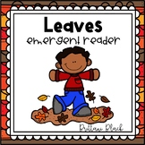 Leaves emergent reader