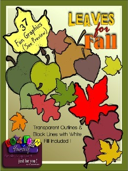 Leaves for Fall Clipart (w/5 FREE Elements)