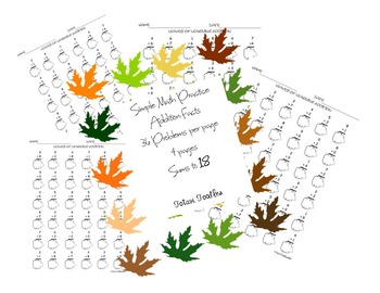 Leaves of Learning Addition Practice Worksheets