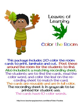Leaves of Learning Color the Room