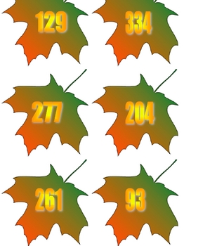 Leaves with Numbers