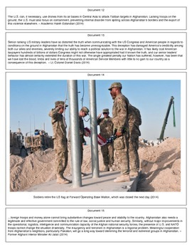 Leaving Afghanistan (Document Packet)