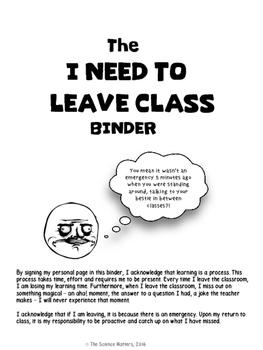 Leaving Class Binder