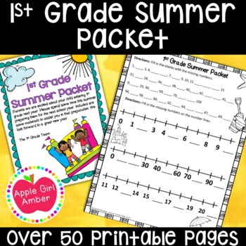 Leaving Kindergarten and ready for 1st Grade Summer Packet