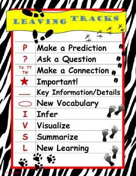 Leaving Tracks Poster: Close Reading Coding of Text