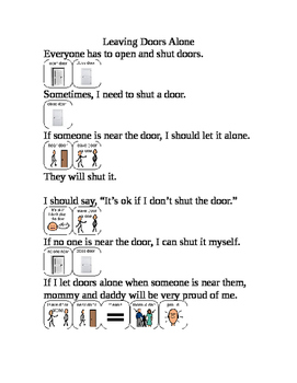 Leaving doors alone social story