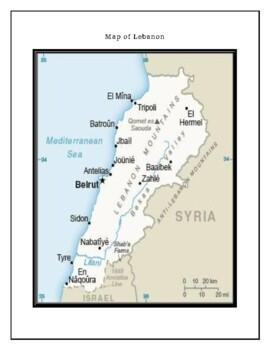 Lebanon Geography Maps, Flag, Data, Assessment - Map Skills Data Analysis