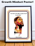 Lebron James NBA Basketball Growth Mindset Poster Inspirational Quote Precept
