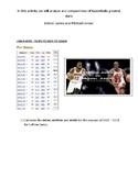 Lebron James vs. Michael Jordan Statistics Activity