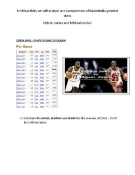 Lebron James vs. Michael Jordan Statistics Activity