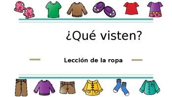 Lección de vestimenta en español. Spanish lesson for clothing