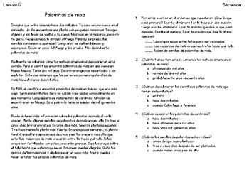Lecciones de secuencia - Sequence Lessons in Spanish 16-20