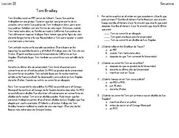 Lecciones de secuencia - Sequence Lessons in Spanish 21-25