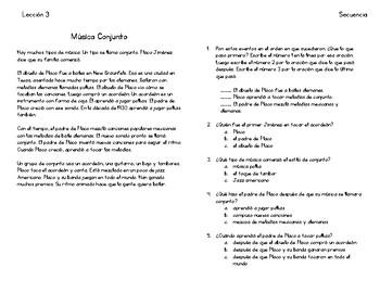 Lecciones de secuencia - Sequence Lessons in Spanish 1-5