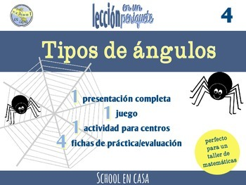 Leccion en un periquete: Tipos de ángulos   Types of Angle
