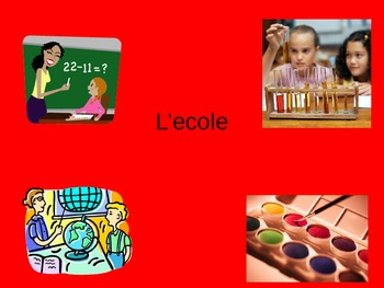 L'ecole PowerPoint French School Vocabulary PPT
