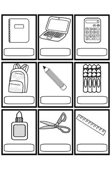 L'école file folder game pdf