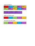 Leçon # 13 Préférences Les saisons Seasons. Color blocks activity