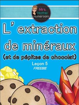 Leçon - L'extraction des minéraux FREEBIE