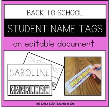 Editable Student Name Tags - Unique and Creative Fonts