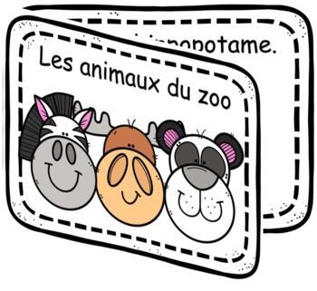 Lecteur débutant - Les animaux du zoo - French Emergent Reader