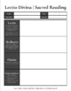 Lectio Divina   Sacred Reading: Graphic Organizer
