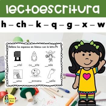 Lectoescritura: h, ch, k, q, g, x, w