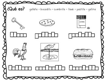 Lectoescritura: ll, b, v, z, c, r, rr, f