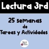 Lectura 3ro. 25 Semanas de Tareas y Actividades - Bundle