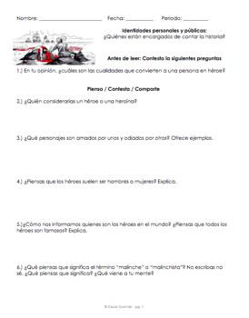 Ap Spanish reading. Identidades personales y privadas. Malinche Héroe Villana