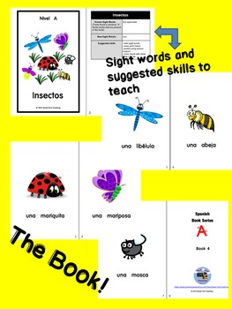 Lectura Guiada! Spanish Guided Reading Book w/Matching Activities Free