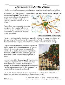 Lectura: Los naranjos en Sevilla, España (The Orange Trees in Seville, Spain)
