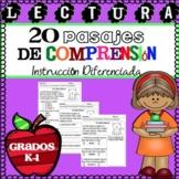 Lectura Pasajes de Comprension Set 1 Grados K-1 / Spanish Reading Comprehension