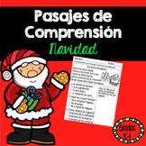 Lectura Pasajes de Comprension Navidad Grados K-1 /Spanish Reading Comprehension