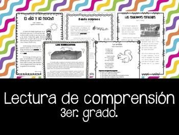 Lectura de comprensión – Práctica para exámenes - 3er.grado