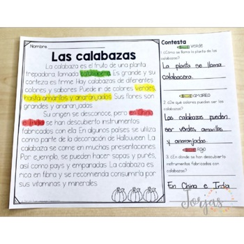 Lectura de comprensión - Reading Comprehension in Spanish