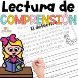 Lectura de comprensión en español - Reading comprehension in Spanish